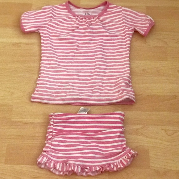 Girls Swimsuit Set Sz 8 From Lands End Poshmark
